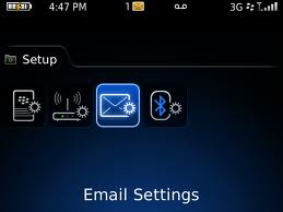 setting email di blackberry