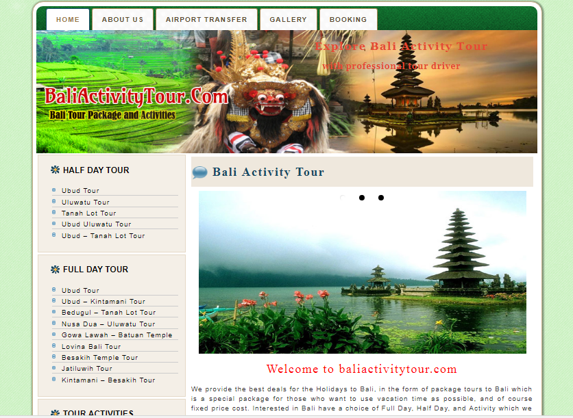 bali activity tour